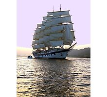 Twilight lavender sail! Photographic Print