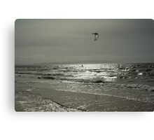 Silver Surfer - Troon Beach Canvas Print