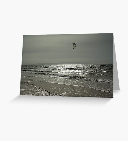 Silver Surfer - Troon Beach Greeting Card