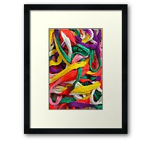 Colorful yarn pattern Framed Print