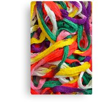 Colorful yarn pattern Canvas Print