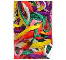 Colorful yarn pattern Poster