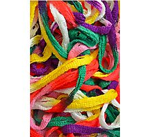 Colorful yarn pattern Photographic Print