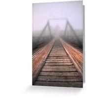 Bridge to fog Greeting Card