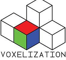 Pixel 3D Voxelization Nerd Computer Graphic Render by voxelization