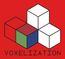 Pixel 3D Voxelization Nerd Computer Graphic Render Kids Tee