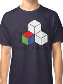 Pixel 3D Voxelization Nerd Computer Graphic Render Classic T-Shirt