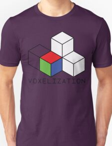 Pixel 3D Voxelization Nerd Computer Graphic Render T-Shirt