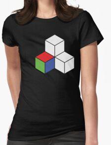 Pixel 3D Voxelization Nerd Computer Graphic Render Womens Fitted T-Shirt