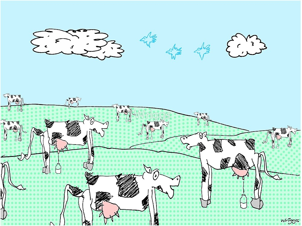 milk moo cows by Wriggs