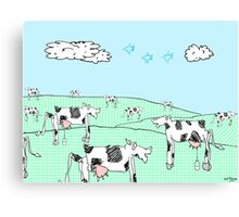milk moo cows Canvas Print