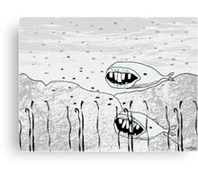 long toothed miniature whales Canvas Print