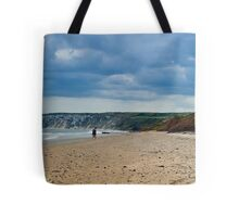 Fat Bloke on Beach, Hunmanby Gap, North Yorkshire Tote Bag