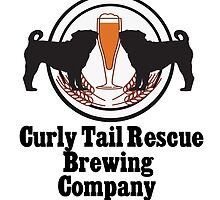 Curly Tail Pug Rescue Brewing by Jan Weiss