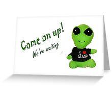 Little Alien Greeting Card