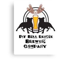 Pit Bull Rescue Brewing Company Canvas Print