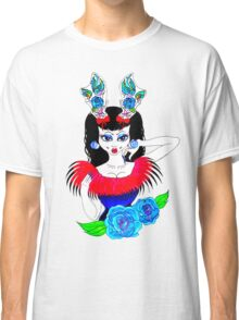 tattoo antlers and roses  Classic T-Shirt