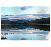Sunset over Patricia Lake Poster