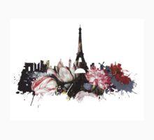 Paris skyline flower Baby Tee