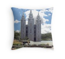 Mormon temple Salt Lake City Throw Pillow
