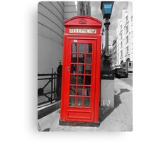 London Telephone Box. Canvas Print