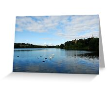 Linlithgow Loch with view of Palace Greeting Card