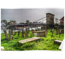Marlow Bridge from All Saints Graveyard Poster