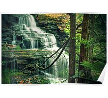 Upper section of Ganoga Falls Poster
