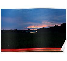 Sunset Over Maple View Farm Poster