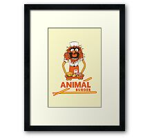 Animal Burger Framed Print