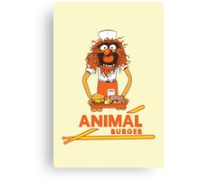 Animal Burger Canvas Print