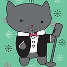 Lounge Singer Cat by ValeriesGallery