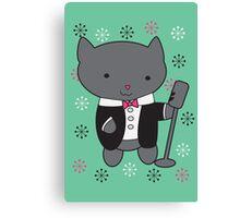 Lounge Singer Cat Canvas Print