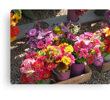 flowers from the vineyard Canvas Print