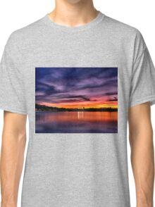Sun dusk over Boston College  Classic T-Shirt
