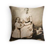 Family Portrait Throw Pillow