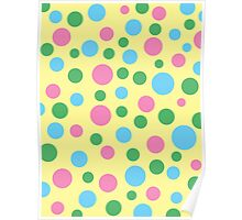 Colorful circle pattern Poster