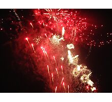 Fireworks on Guy Fawkes Photographic Print