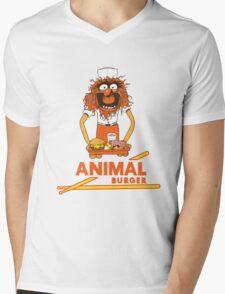 Animal Burger Mens V-Neck T-Shirt