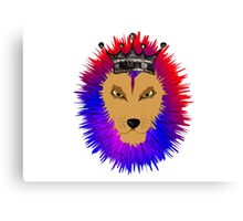 Cool Jungle king Lions Head Canvas Print