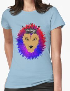 Cool Jungle king Lions Head Womens Fitted T-Shirt