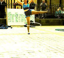 Edinburgh Fringe Festival - Ammeilia and her hoops.  by KathleenAnn