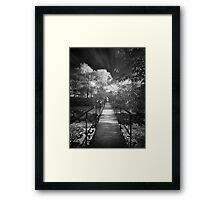 Small bridge infrared bw Framed Print