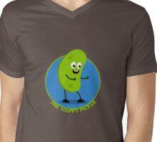 Mr Happy Pickle Mens V-Neck T-Shirt