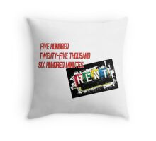 Rent the Musical Seasons Of Love Throw Pillow