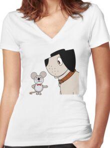 Mungo & Midge Women's Fitted V-Neck T-Shirt