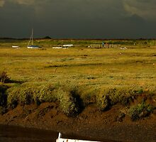 Storm Approaching Blakeney Quay, Norfolk. by Miffy