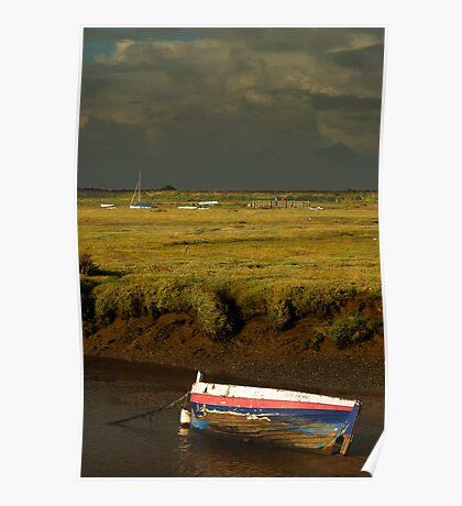 Storm Approaching Blakeney Quay, Norfolk. Poster