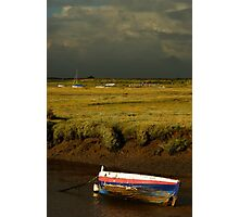 Storm Approaching Blakeney Quay, Norfolk. Photographic Print