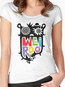 Big Weirdo - multi Women's Fitted Scoop T-Shirt